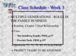 class schedule week 3