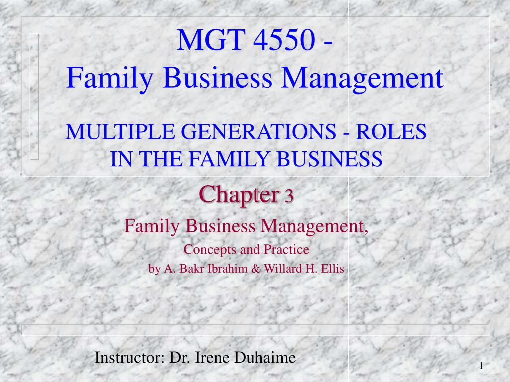 mgt 4550 family business management l.