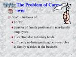 the problem of carry over