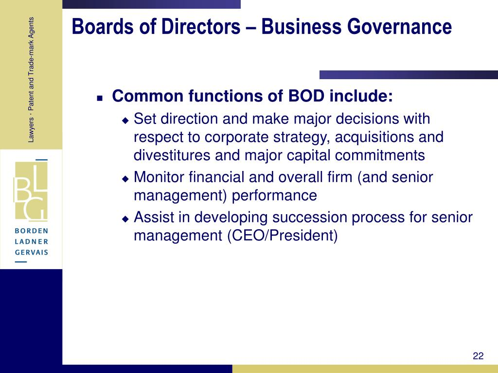 Boards of Directors – Business Governance