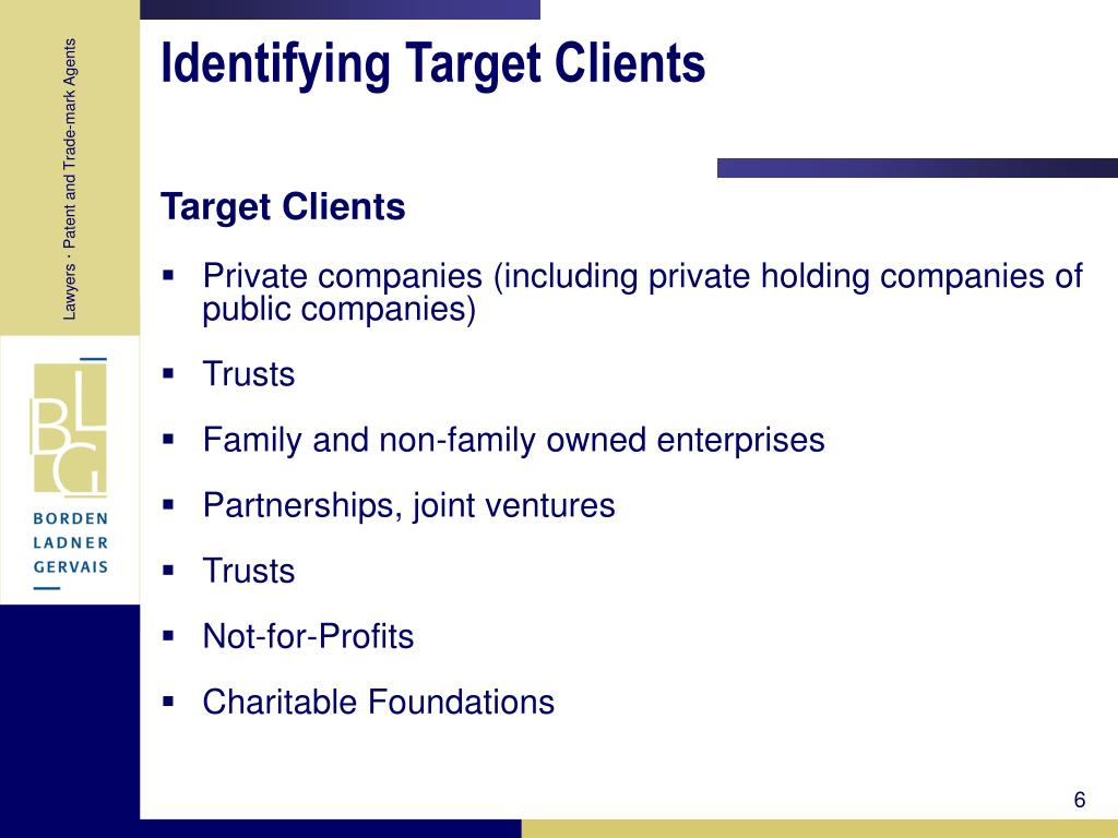 Identifying Target Clients