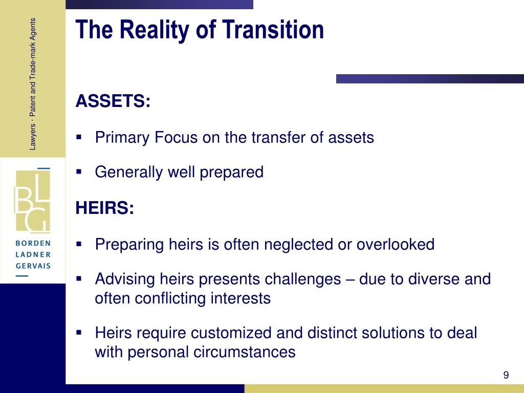 The Reality of Transition
