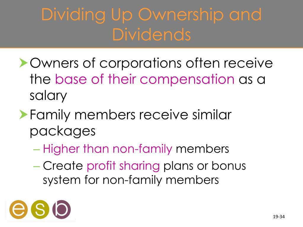 Dividing Up Ownership and Dividends