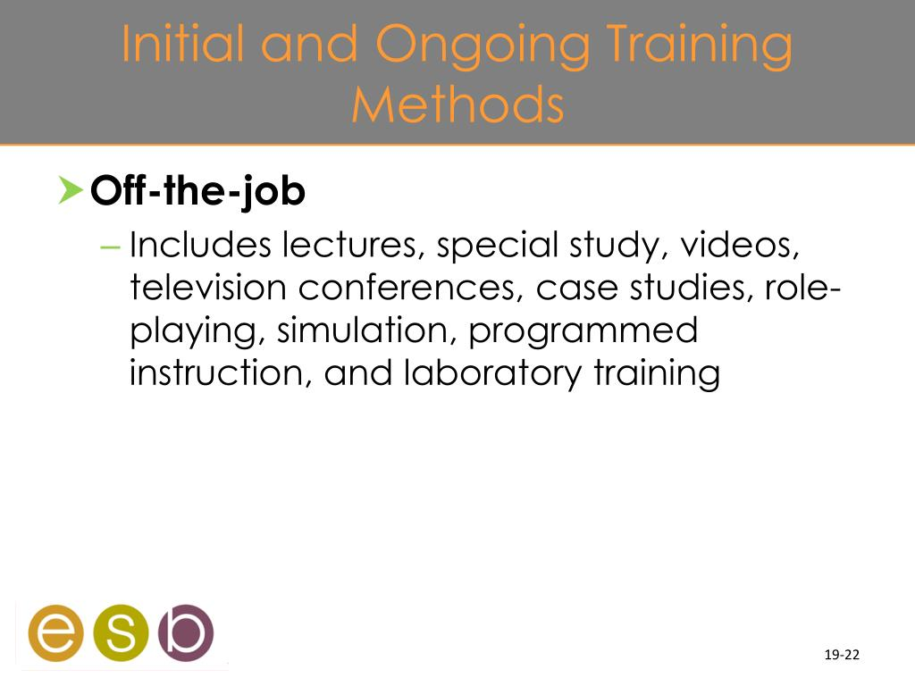 Initial and Ongoing Training Methods