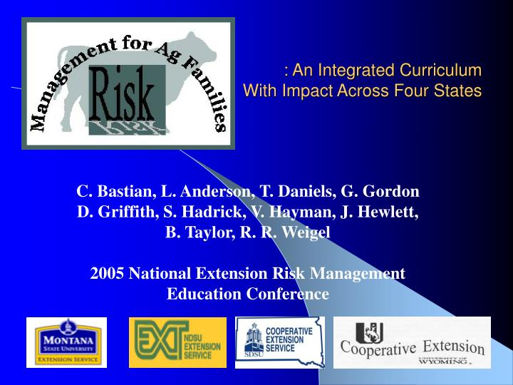 An integrated curriculum with impact across four states