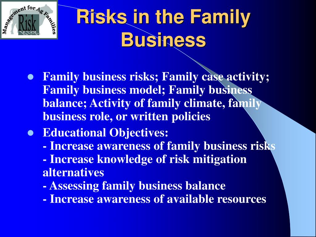 Risks in the Family Business