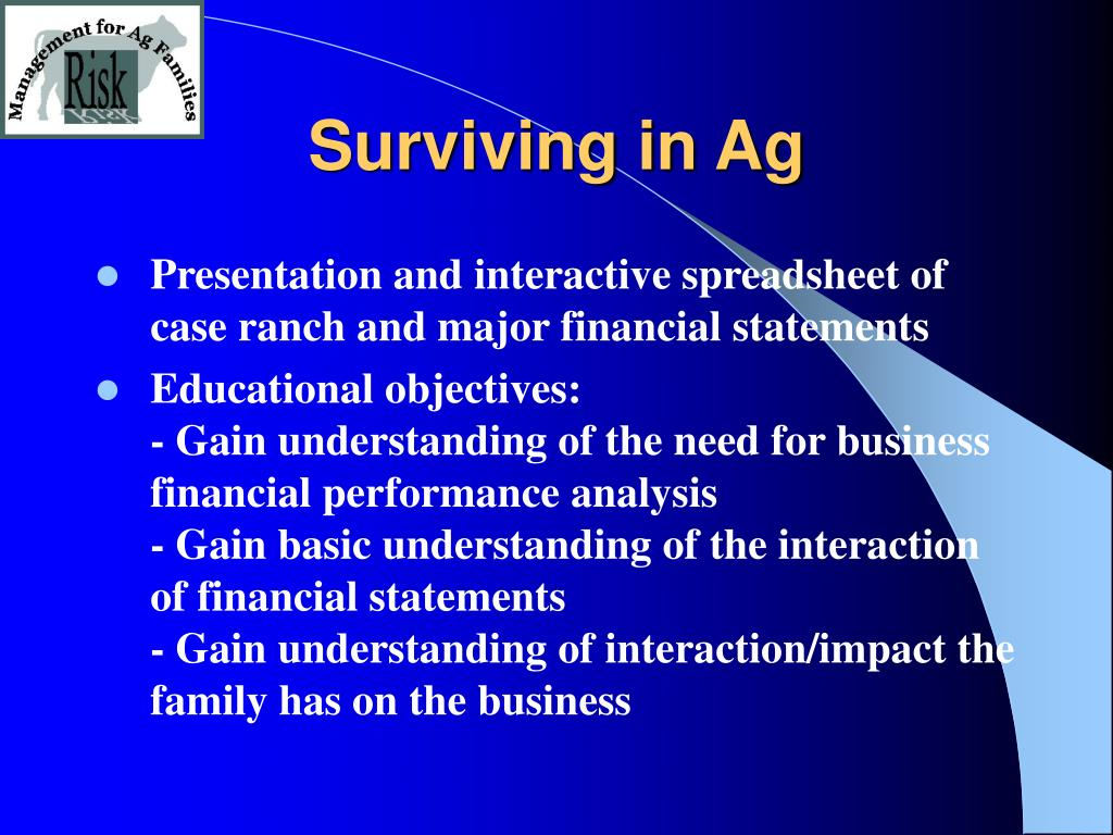 Surviving in Ag