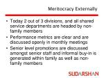 meritocracy externally