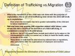 definition of trafficking vs migration