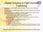 global initiative to fight human trafficking