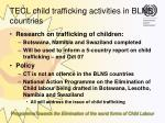tecl child trafficking activities in blns countries