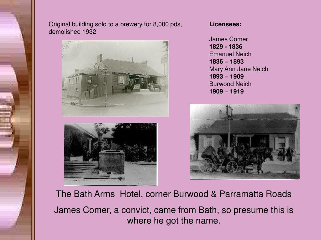 Original building sold to a brewery for 8,000 pds, demolished 1932