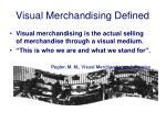 visual merchandising defined