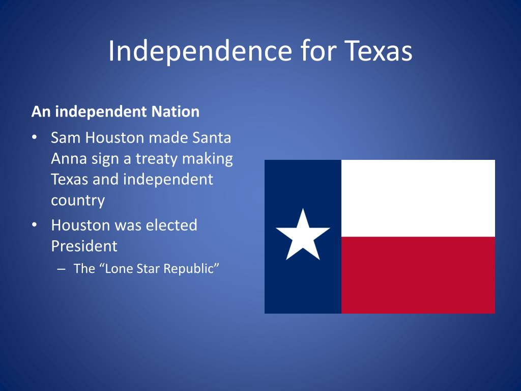 Independence for Texas