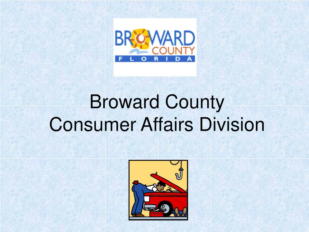 broward county consumer affairs division l.