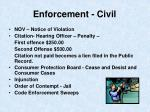 enforcement civil