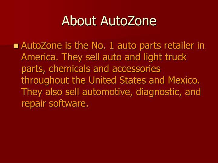 About autozone