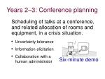 years 2 3 conference planning