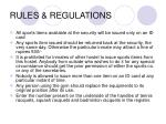 rules regulations