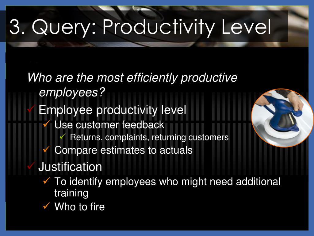 3. Query: Productivity Level