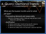 4 query demand trends