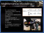maintenance modeling