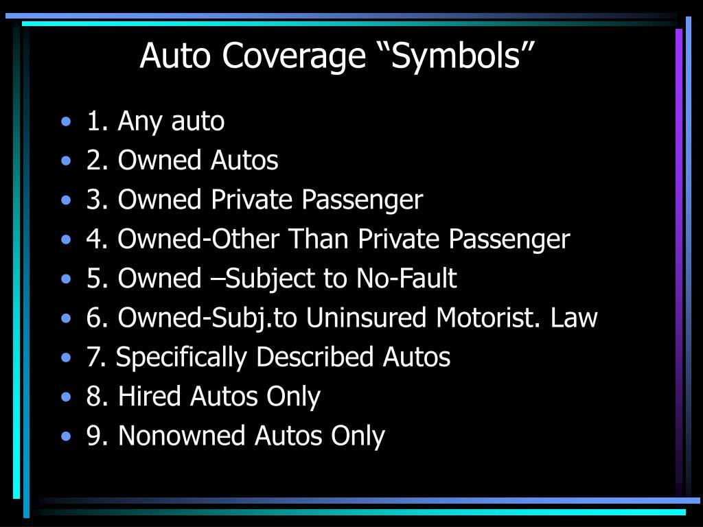 """Auto Coverage """"Symbols"""""""