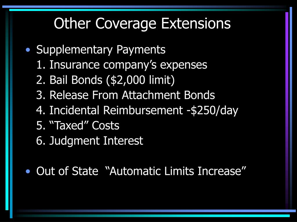 Other Coverage Extensions