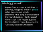 who is not insured