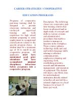 career strategies cooperative education programs
