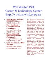waxahachie isd career technology center http www hs wisd org cate