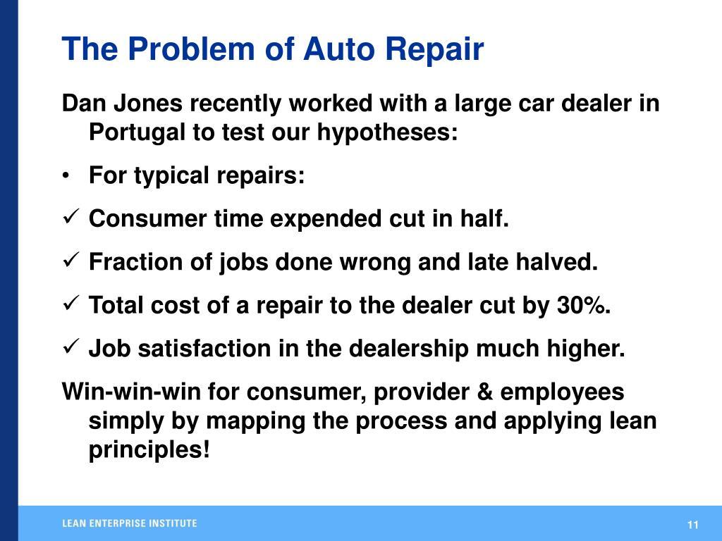 The Problem of Auto Repair