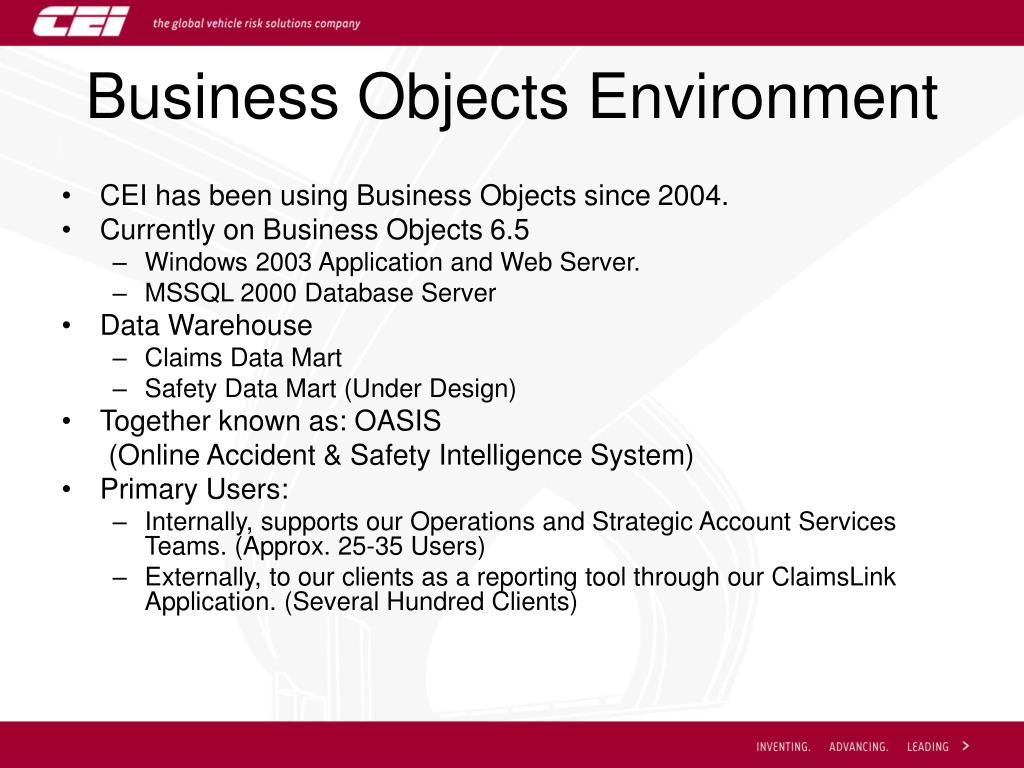 Business Objects Environment