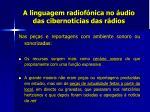 a linguagem radiof nica no udio das cibernot cias das r dios16