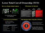 lower total cost of ownership tco