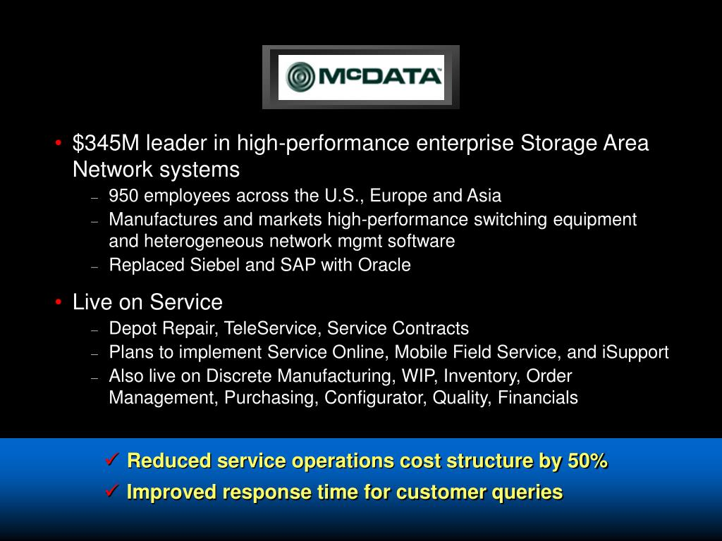 $345M leader in high-performance enterprise Storage Area Network systems