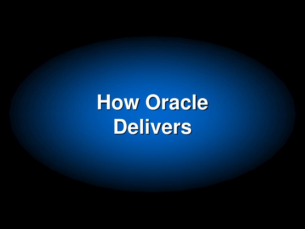 How Oracle