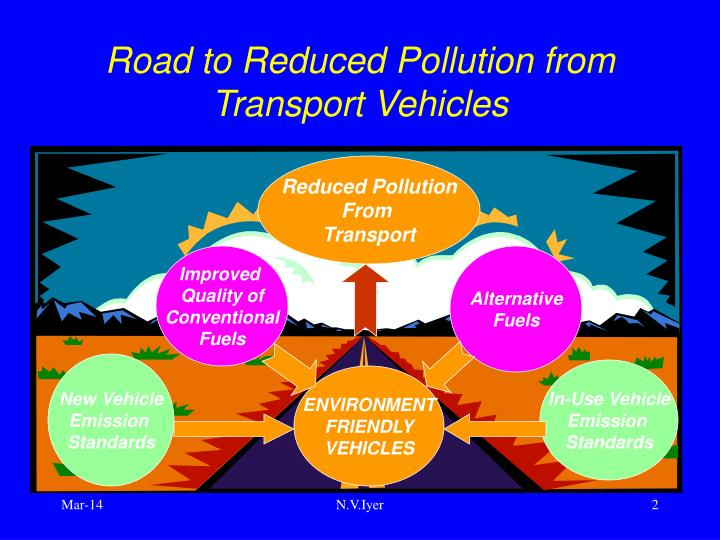 Road to reduced pollution from transport vehicles