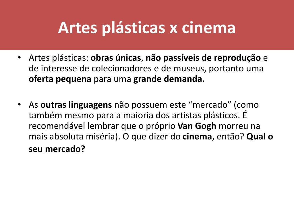 Artes plásticas x cinema