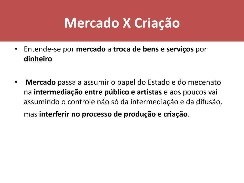 Mercado X Criação