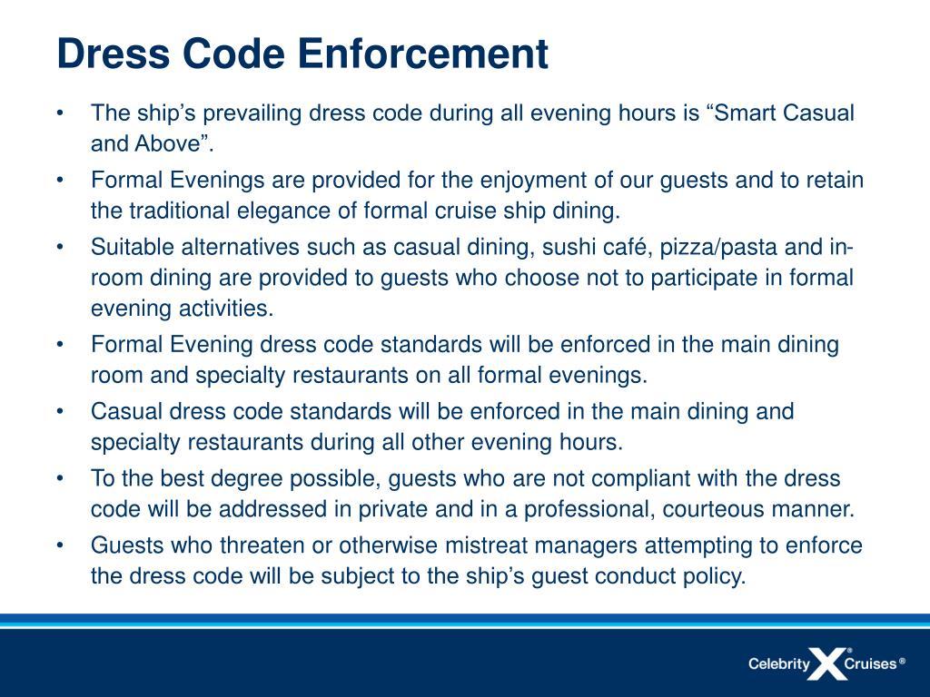Dress Code Enforcement