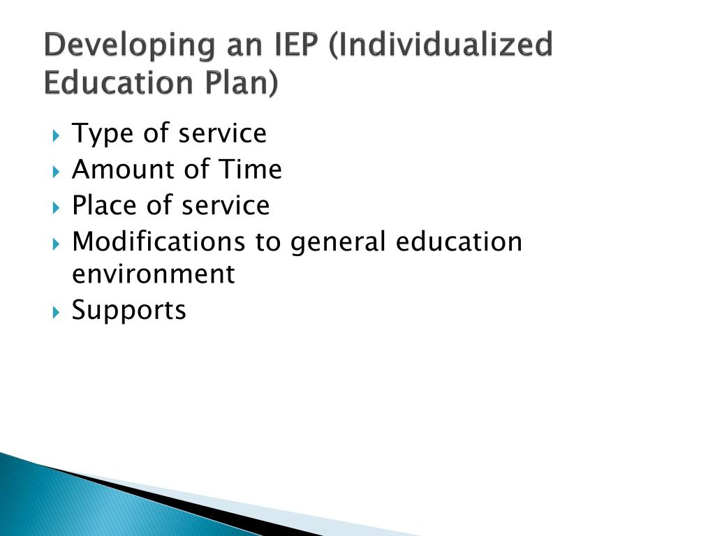 Developing an IEP (Individualized Education Plan)