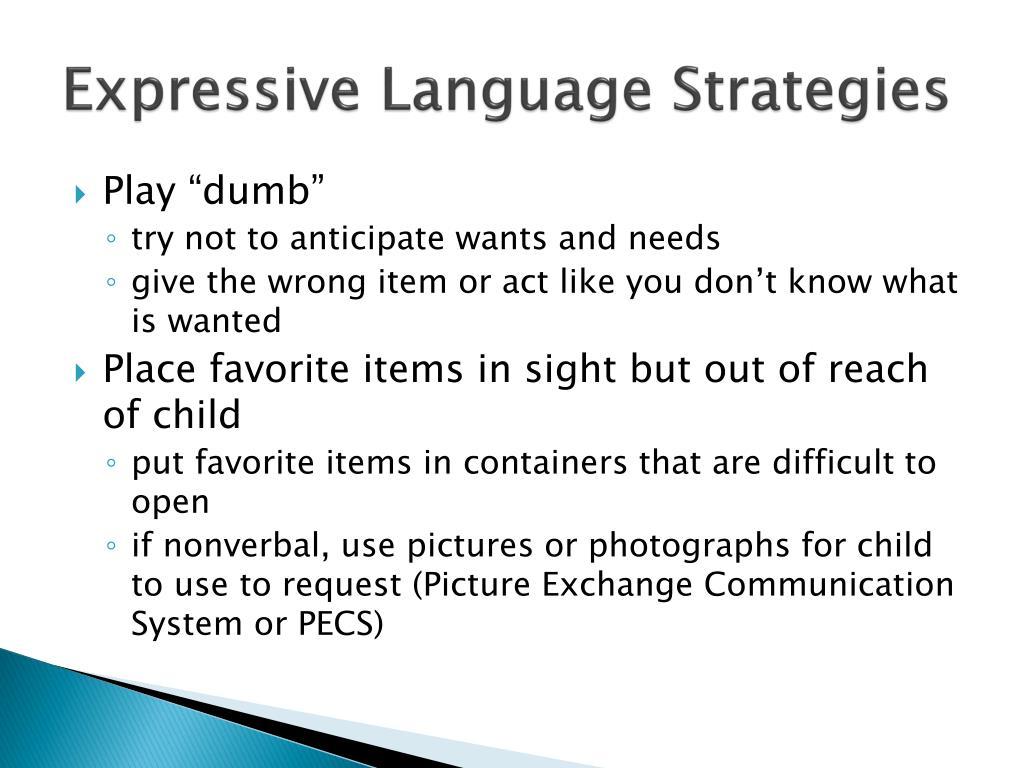 Expressive Language Strategies