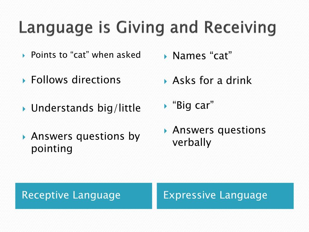 Language is Giving and Receiving