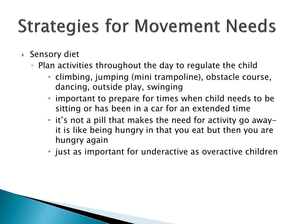 Strategies for Movement Needs