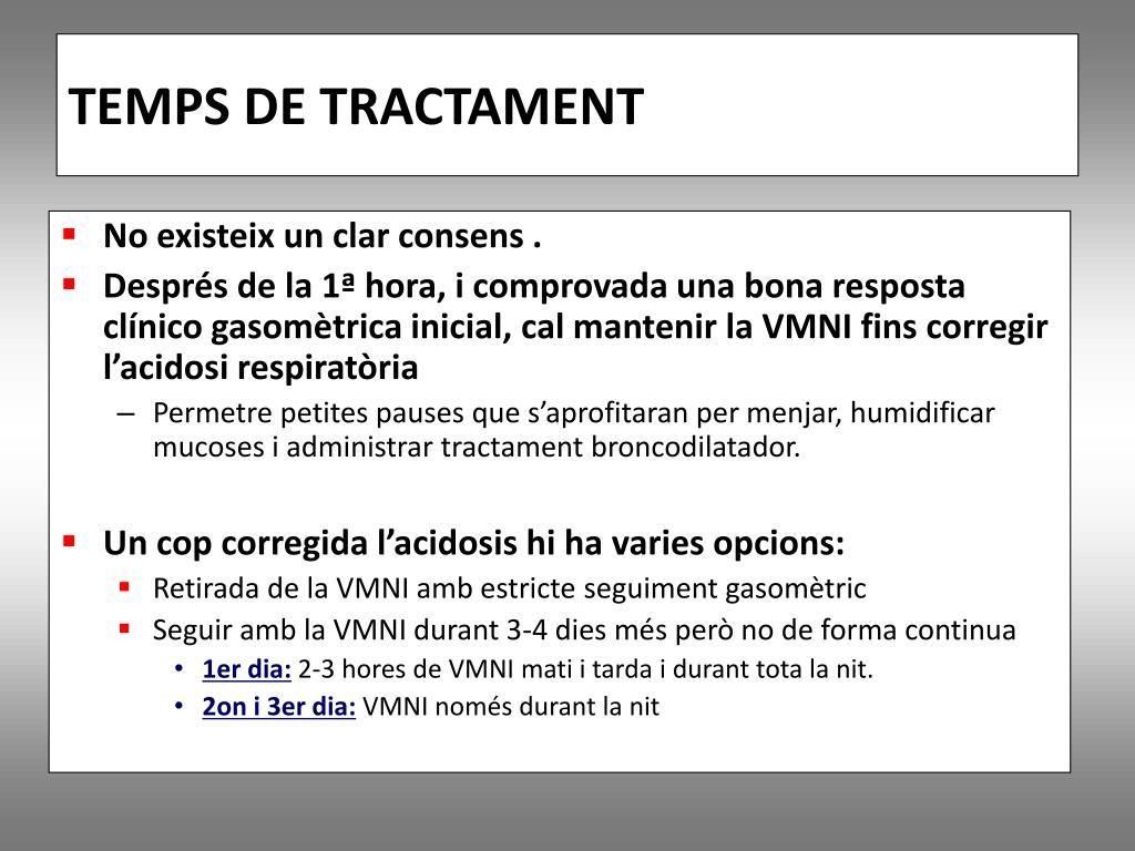 TEMPS DE TRACTAMENT