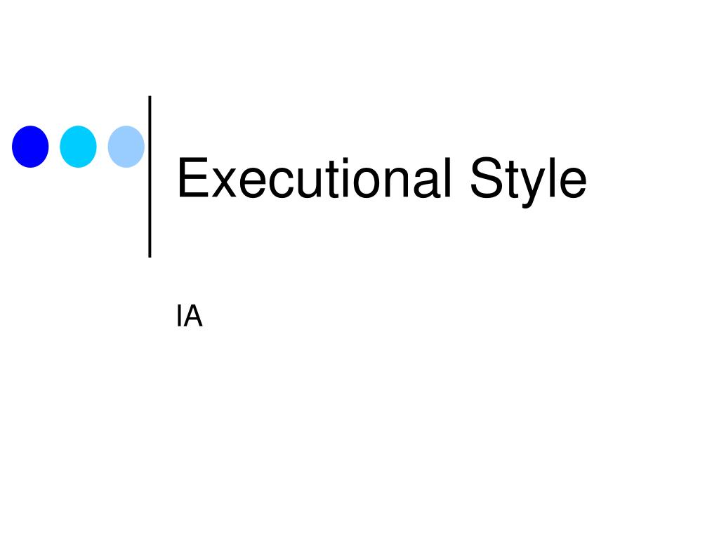 executional style l.