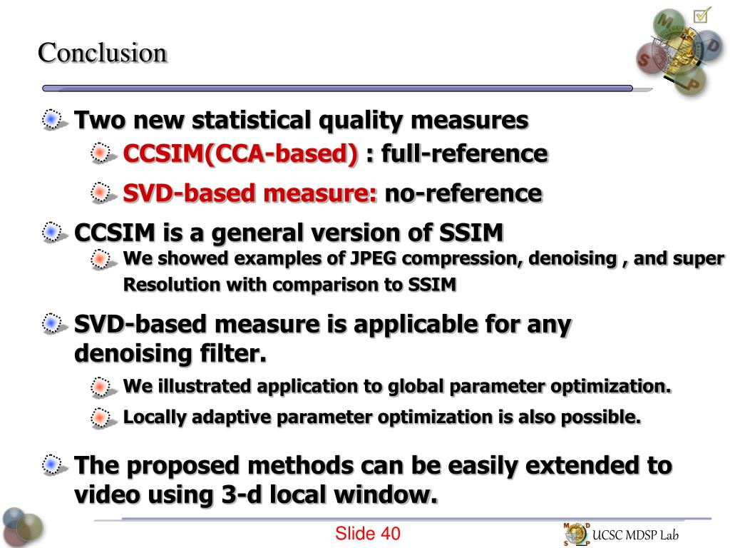 PPT - Statistical Image Quality Measures PowerPoint
