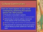 cultural continuities