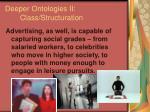 deeper ontologies ii class structuration73